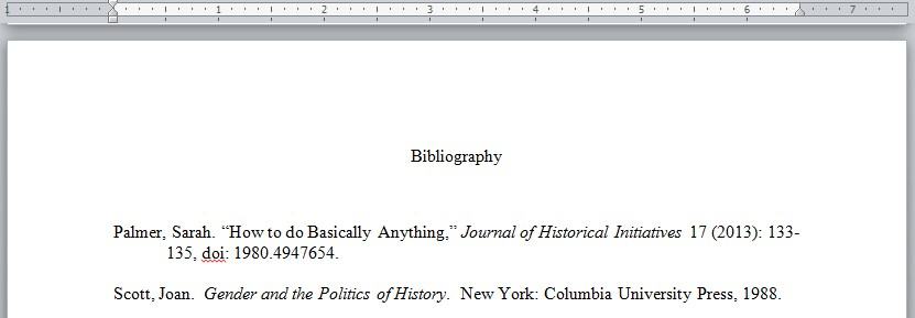 Chicago Manual Style Bibliography