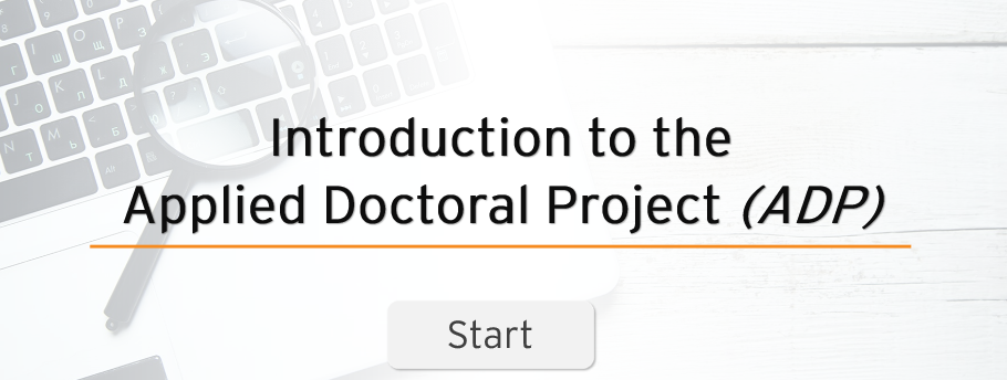 Introduction to Applied Doctoral Project